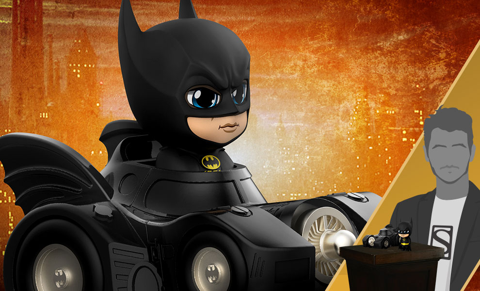 Gallery Feature Image of Batman with Batmobile Collectible Set - Click to open image gallery