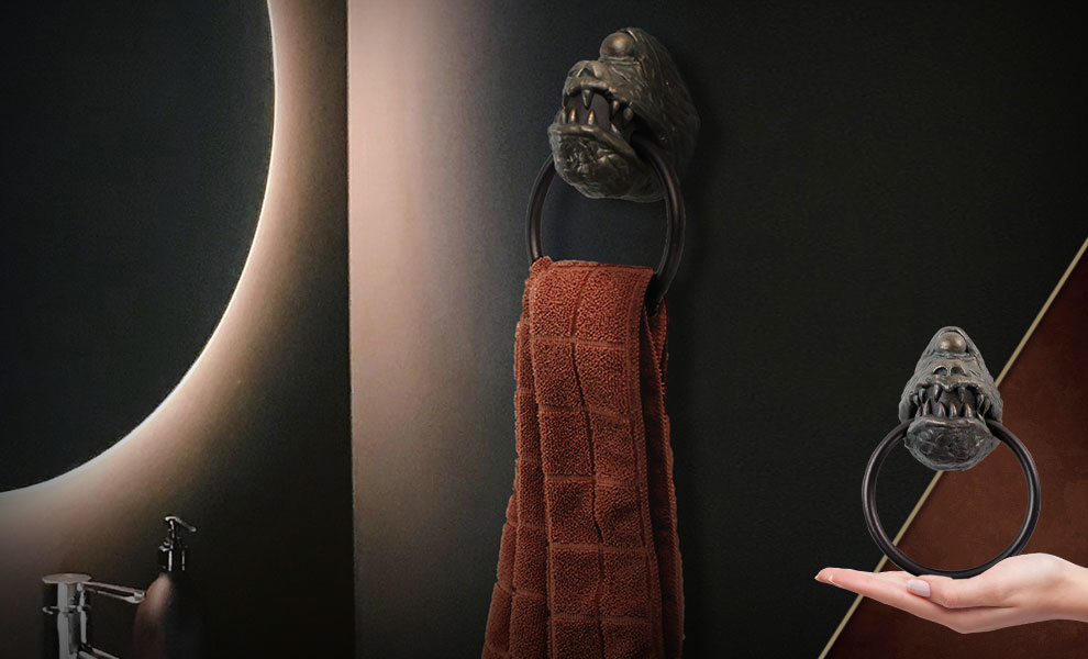 Gallery Feature Image of Star Wars Jabba's Dais Gargoyle Towel Ring Scaled Replica - Click to open image gallery
