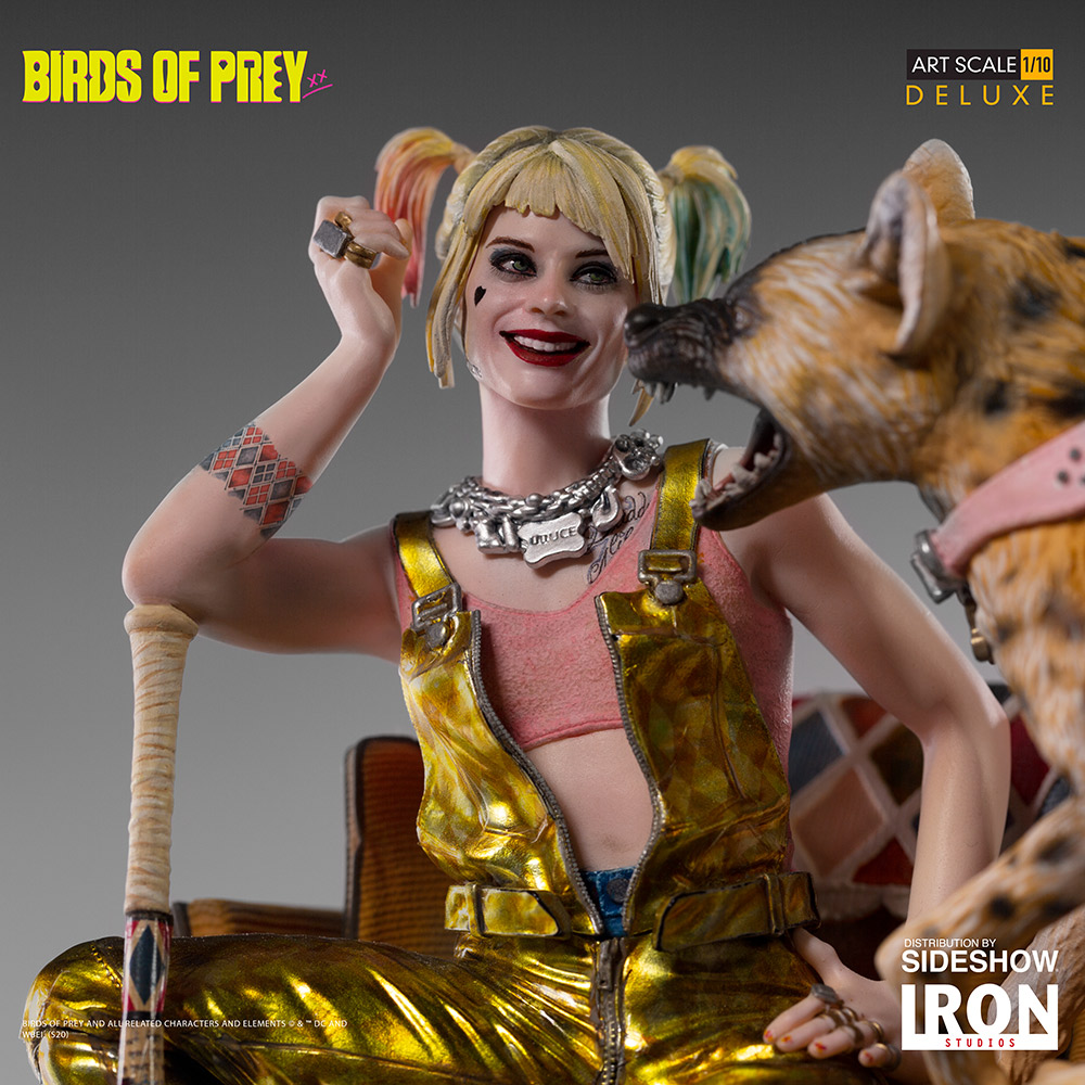 Harley Quinn Bruce Deluxe Statue By Iron Studios Sideshow Collectibles