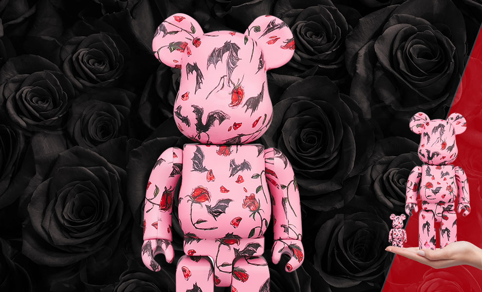 Gallery Feature Image of Be@rbrick Kidill × Eri Wakiyama Bat & Rose Pink 100% & 400% Collectible Set - Click to open image gallery