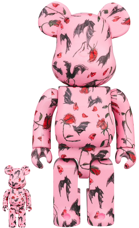 Medicom Toy Be@rbrick Kidill × Eri Wakiyama Bat & Rose Pink 100% & 400% Collectible Set