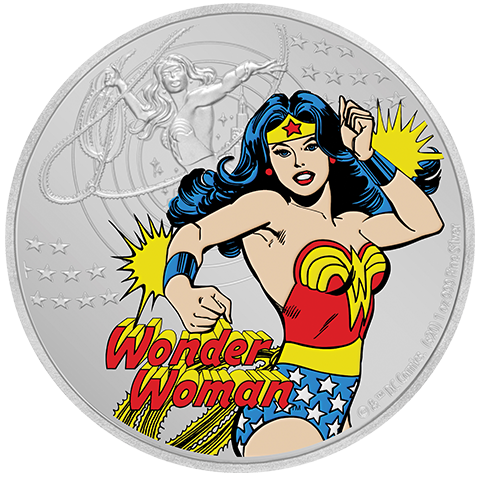 New Zealand Mint Wonder Woman Silver Coin Silver Collectible