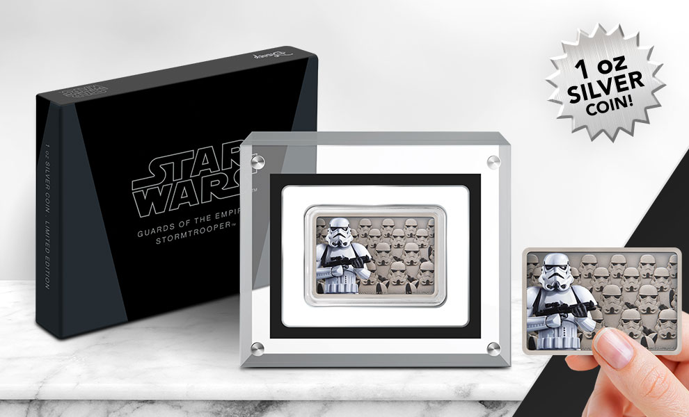 Gallery Feature Image of Stormtrooper Silver Coin Silver Collectible - Click to open image gallery