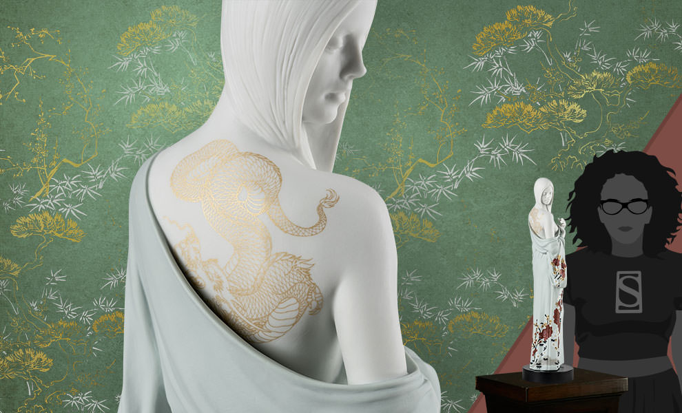 Gallery Feature Image of Beauty with Dragon Tattoo Woman Figurine - Click to open image gallery