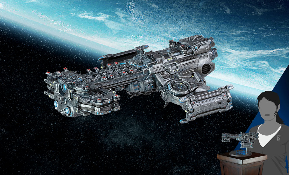 Gallery Feature Image of Terran Battlecruiser Ship Replica - Click to open image gallery
