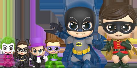Hot Toys Batman, Robin, and Villains Collectible Set