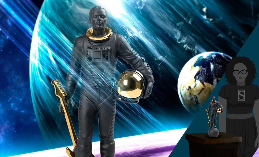 Gallery Feature Image of Walking on the Moon (Black & Gold) Figurine - Click to open image gallery