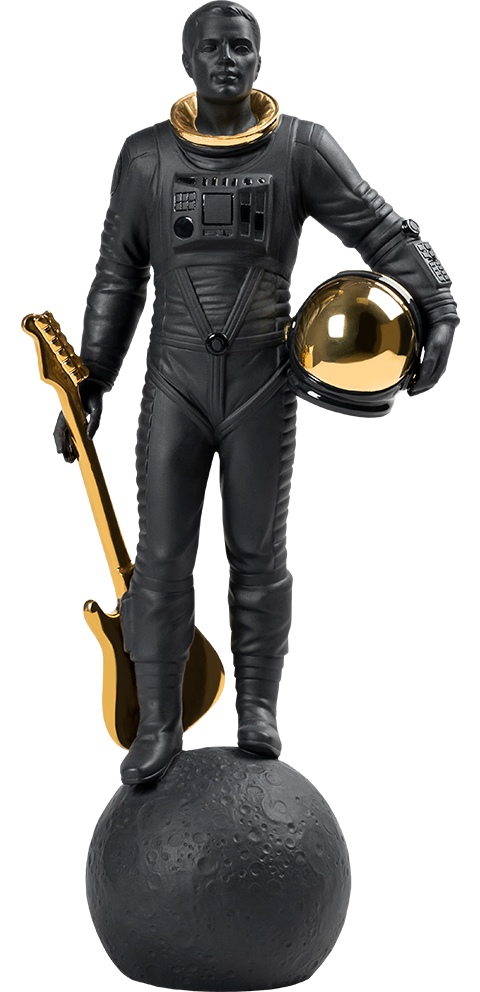 Lladró Walking on the Moon (Black & Gold) Figurine
