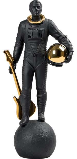 Walking on the Moon (Black & Gold) Figurine