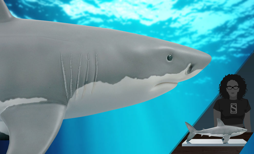 Gallery Feature Image of White Shark Figurine - Click to open image gallery