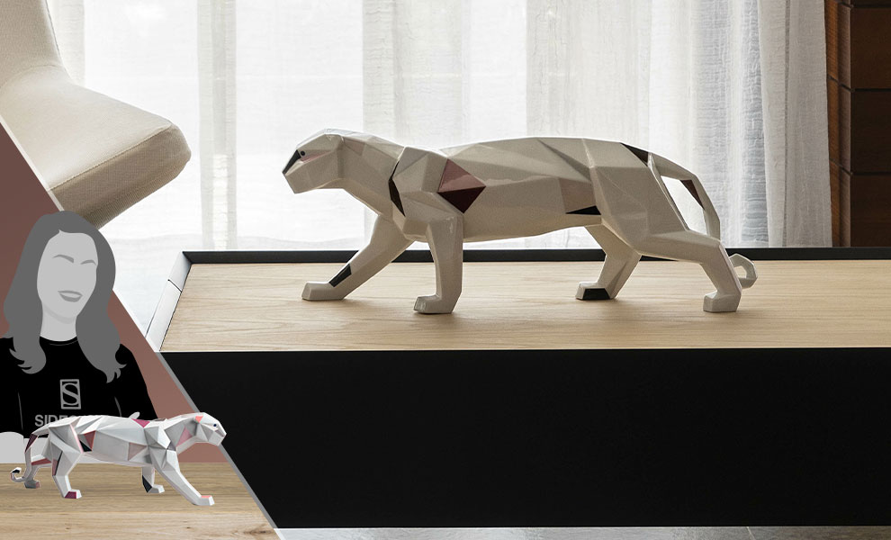 Gallery Feature Image of Panther Figurine - Click to open image gallery