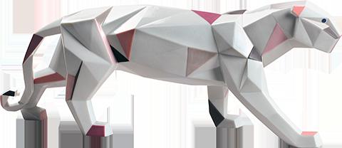 Lladró Panther Figurine
