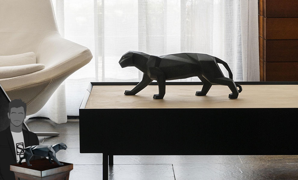 Gallery Feature Image of Panther (Black Matte) Figurine - Click to open image gallery