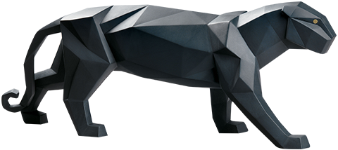 Lladró Panther (Black Matte) Figurine