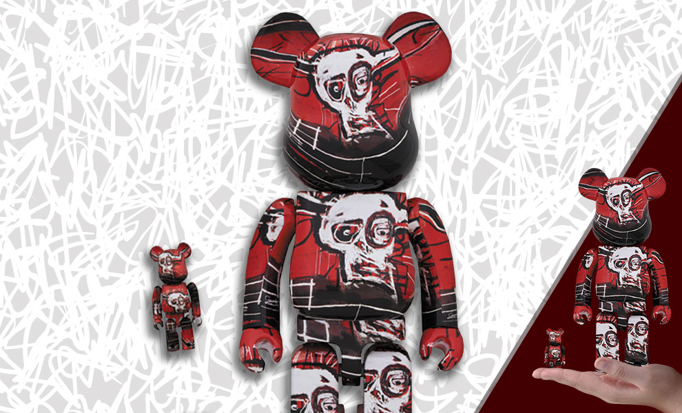 Gallery Feature Image of Be@rbrick Jean-Michel Basquiat #5 100% and 400% Collectible Set - Click to open image gallery