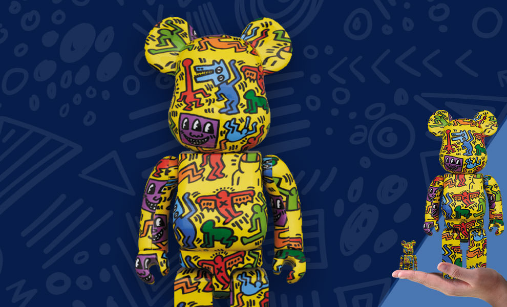 Gallery Feature Image of Be@rbrick Keith Haring #5 100% and 400% Collectible Set - Click to open image gallery