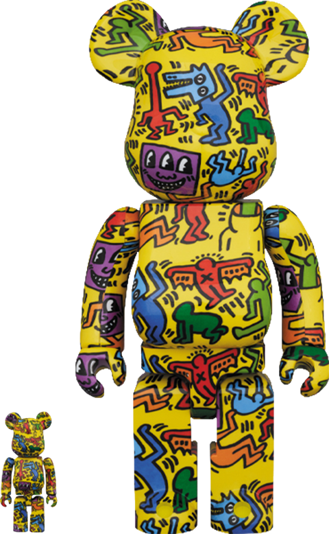 Medicom Toy Be@rbrick Keith Haring #5 100% and 400% Collectible Set