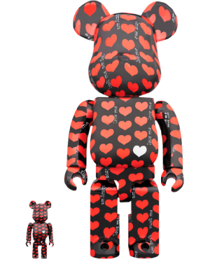 Be@rbrick Black Heart 100% & 400% Collectible Set