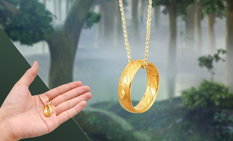 Gallery Feature Image of The ONE RING™ Necklace (GOLLUM™ Gold) Jewelry - Click to open image gallery