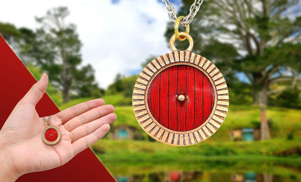 Gallery Feature Image of Hobbiton™ Door Necklace Jewelry - Click to open image gallery