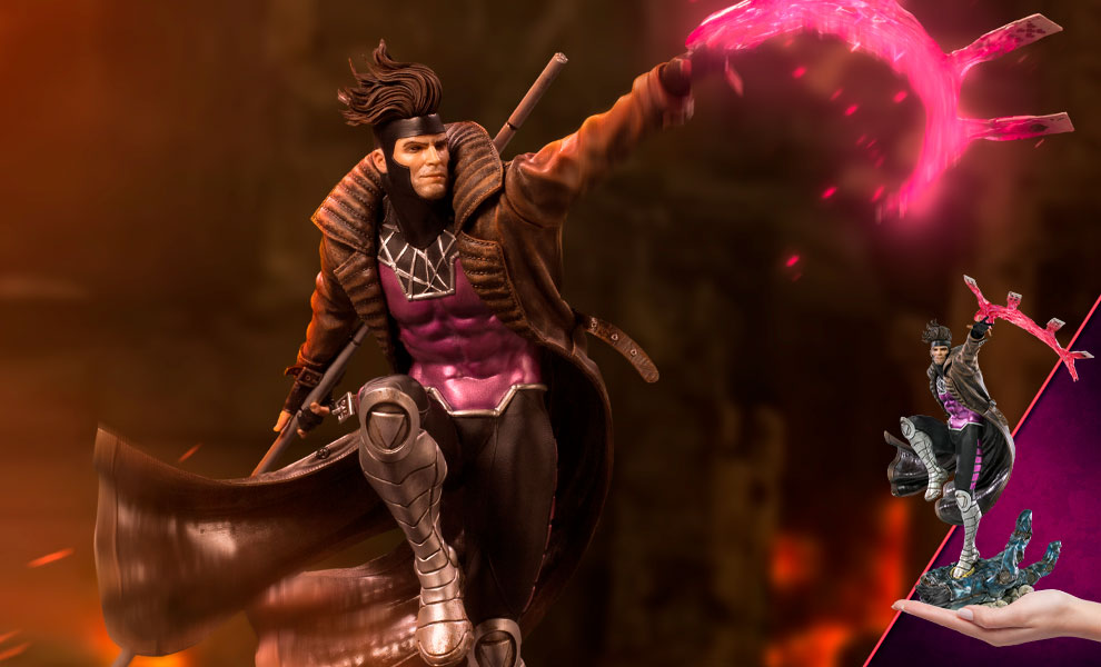 Gallery Feature Image of Gambit 1:10 Scale Statue - Click to open image gallery