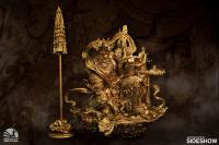 Gallery Image of Guardian of Heaven Subdues the Evil Dragon (Gold) Statue
