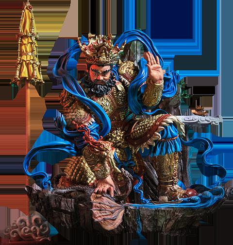Infinity Studio Guardian of Heaven Subdues the Evil Dragon (Color) Statue