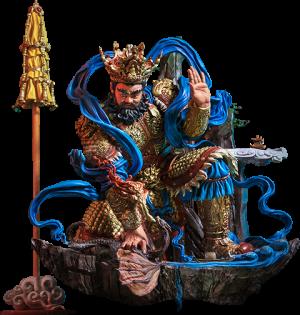 Guardian of Heaven Subdues the Evil Dragon (Color) Statue