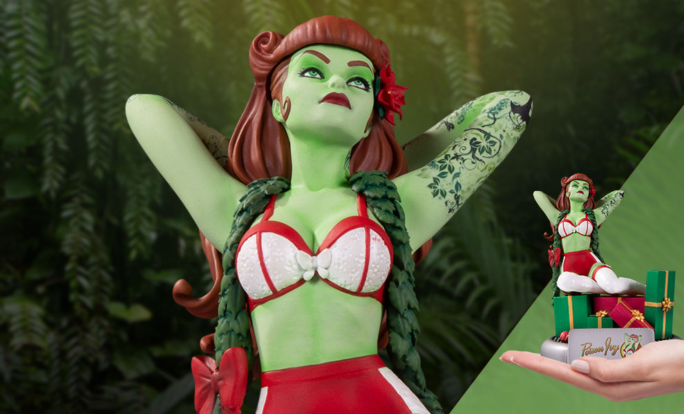 Gallery Feature Image of Poison Ivy (Holiday Variant) Statue - Click to open image gallery