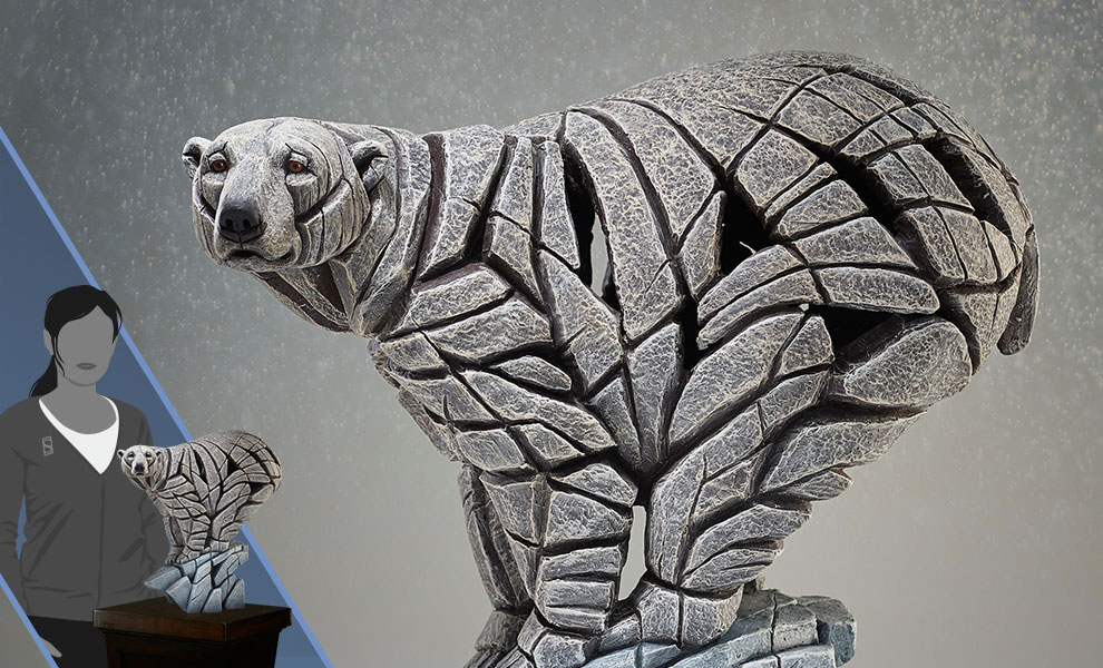 Gallery Feature Image of Polar Bear Edge Sculpture Statue - Click to open image gallery