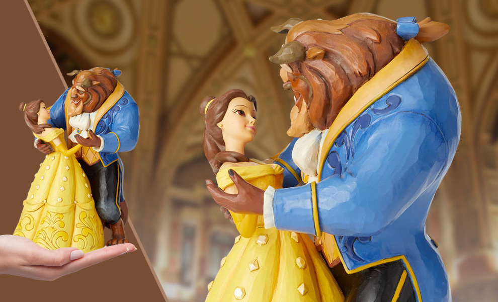 Gallery Feature Image of Belle & Beast Dancing Figurine - Click to open image gallery