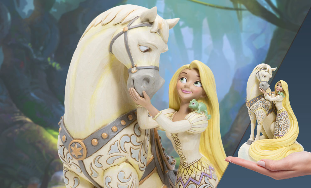 Gallery Feature Image of White Woodland Rapunzel Figurine - Click to open image gallery