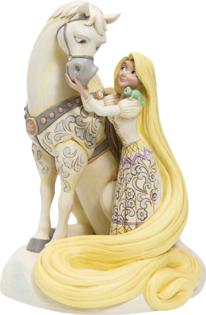 White Woodland Rapunzel Figurine