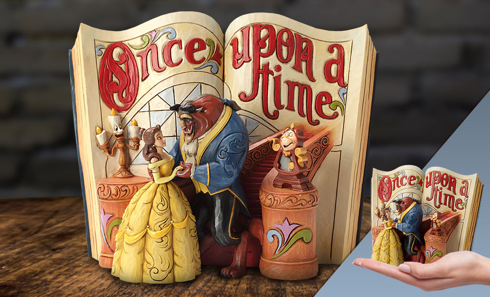 Gallery Feature Image of Beauty and Beast Storybook Figurine - Click to open image gallery