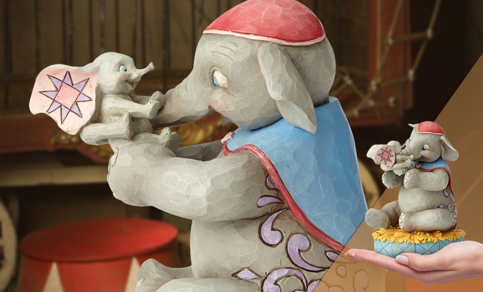 Gallery Feature Image of Mrs. Jumbo and Dumbo Figurine - Click to open image gallery