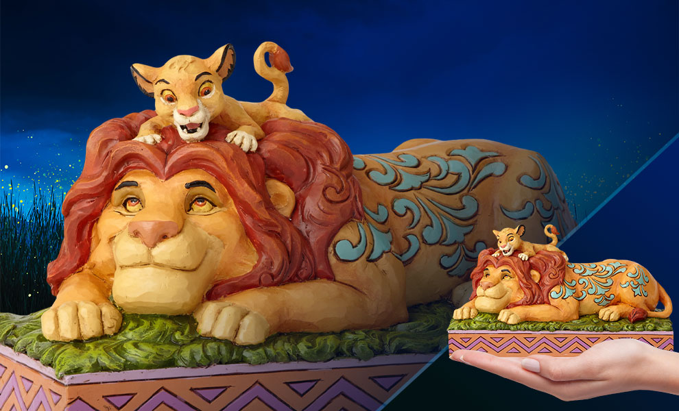 Gallery Feature Image of Simba & Mufasa Figurine - Click to open image gallery