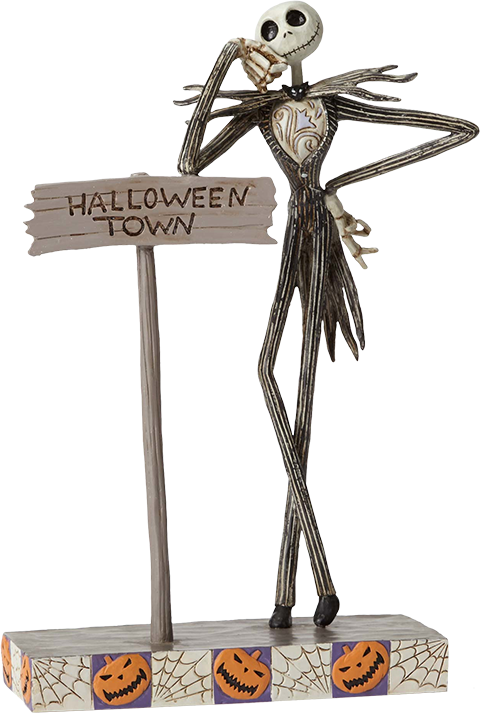 Enesco, LLC Jack by Halloween Town Sign Figurine