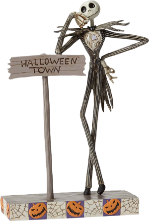 Jack by Halloween Town Sign Figurine