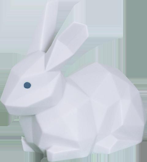 Lladró Rabbit (Matte White) Porcelain Statue