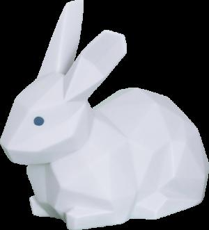 Rabbit (Matte White) Porcelain Statue