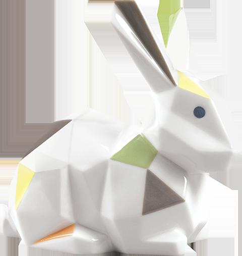 Lladró Rabbit Porcelain Statue