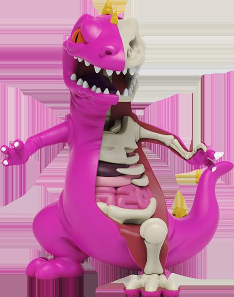 Mighty Jaxx XXRAY Plus: Purple Reptar Collectible Figure
