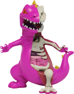XXRAY Plus: Purple Reptar Collectible Figure