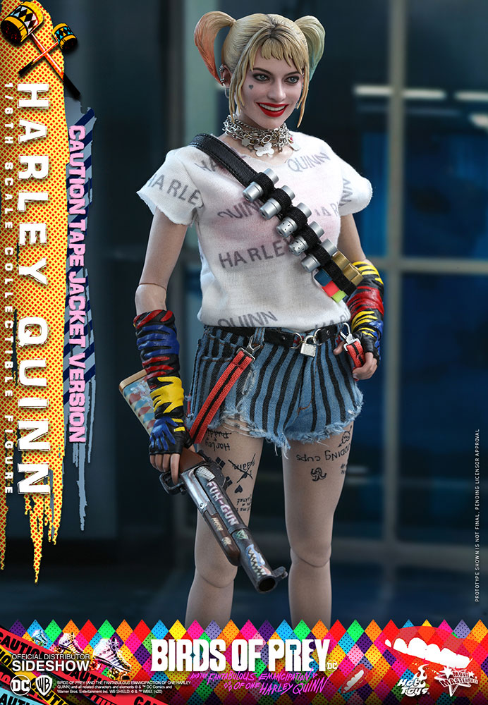 Harley Quinn Caution Tape Jacket Version Sixth Scale Collectible Figure By Hot Toys Sideshow Collectibles