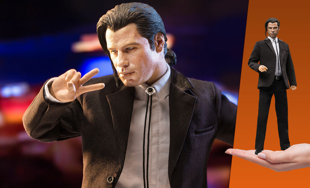 Gallery Feature Image of Vincent Vega (Pony Tail Version) 2.0 Sixth Scale Figure - Click to open image gallery