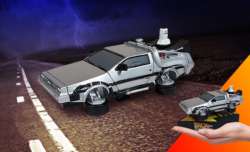 Gallery Feature Image of Delorean Time Machine (Premium Motion) Statue - Click to open image gallery