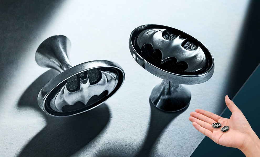 Gallery Feature Image of Batman Insignia Cufflinks Jewelry - Click to open image gallery