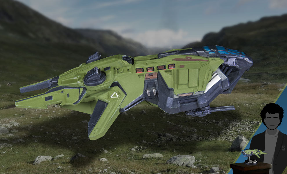 Gallery Feature Image of Halo: UNSC Vulture Ship Replica - Click to open image gallery