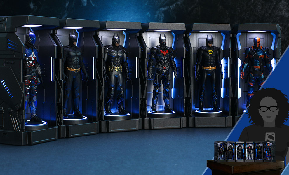 Gallery Feature Image of Batman: Arkham Knight Armory Miniature Collectible Set - Click to open image gallery