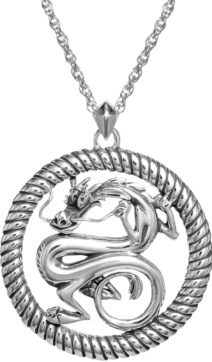 Mushu Medallion (Silver) Necklace Jewelry
